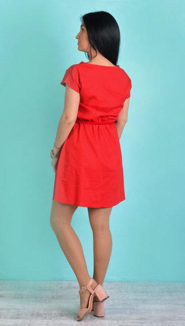 035f2b96d5c Льняное красное платье на лето  продажа