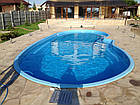 """Стационарный стекловолоконный усиленный бассейн """"Атлант"""" 6,4х3,2 глубиной от1,2 до 1,6м., фото 2"""