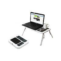 Подставка LD 09 E-TABLE, Охлаждающая-подставка стол, Cтолик для ноутбука с охлаждением 2 USB кулерами