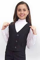Жилет для девочки школьный  М-745  рост 128 и 146, фото 1