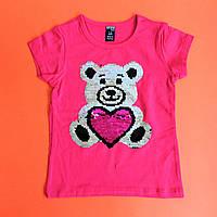 Детская футболка с пайетками размеры 1-2, фото 1