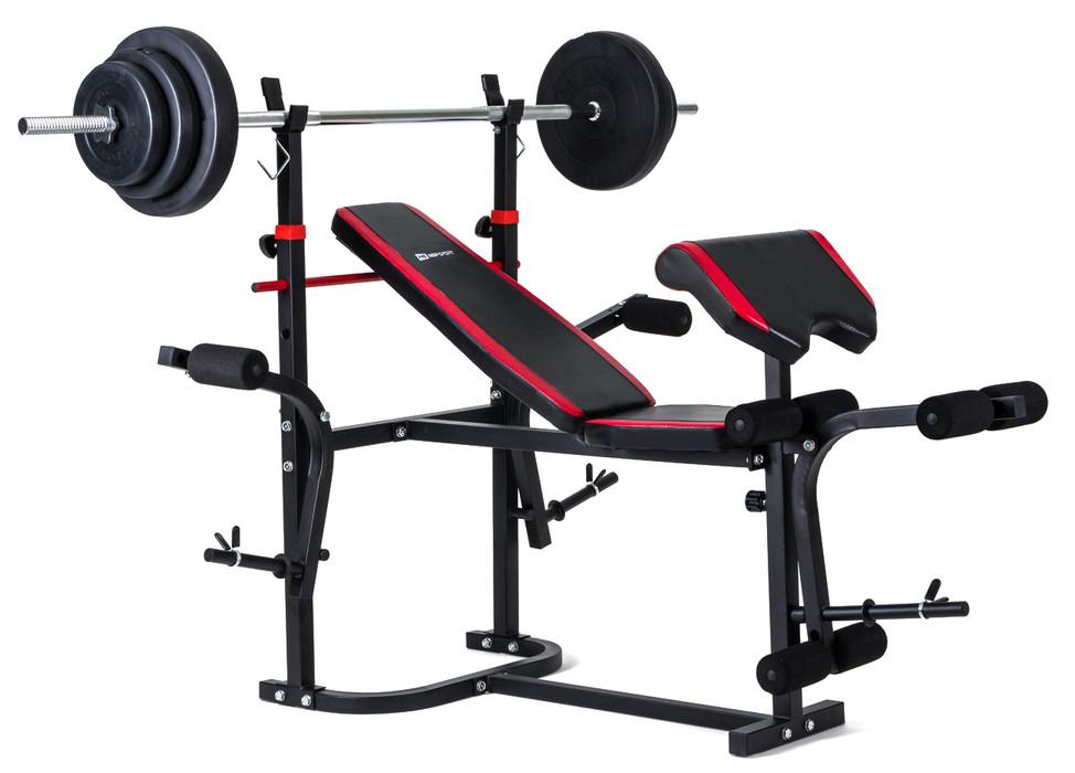 Набор Hop-Sport Premium 48 кг со скамьей HS-1020 + пульт(парта)
