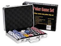 Набор для покера на 200 фишек. Алюминиевый кейс