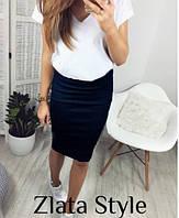 Женская миди юбка, прямая юбка классическая. Размеры норма, разные цвета.