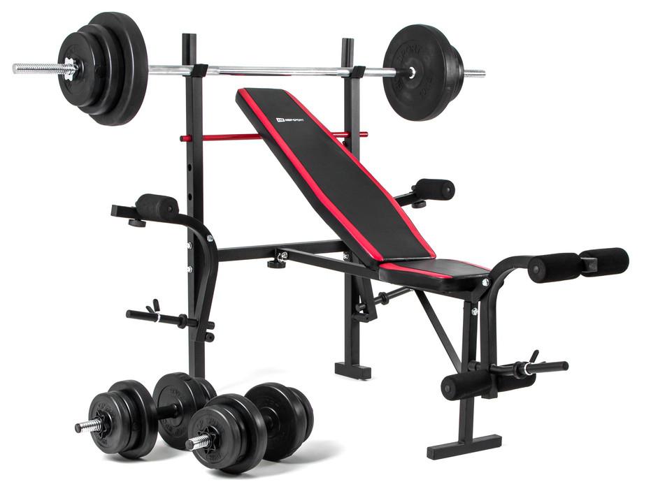 Набор Hop-Sport Premium 39,5 кг со скамьей HS-1070