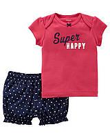 Комплект летней одежды для девочки, футболка и шорты