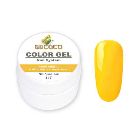 Гель-краска GDСосо Color Gel 147 Оранжевый 5 ml