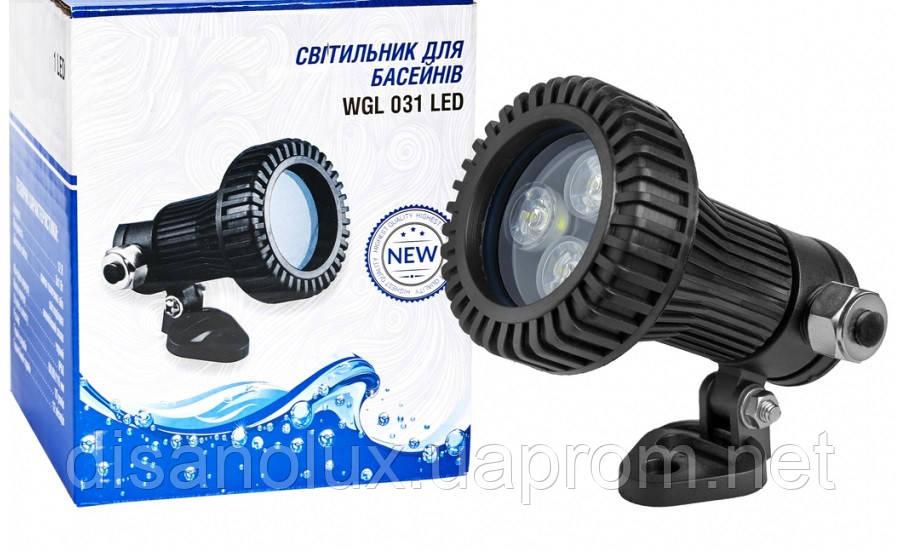 Светильник подводный  для бассейна  LED 3W 12V  4100K  белый IP68