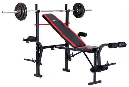 Набор Hop-Sport Strong 60 кг со скамьей HS-1055 , фото 2
