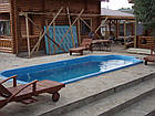 """Стационарный стекловолоконный усиленный бассейн """"Одесса"""" 8,0х3,2 глубиной 1,5м., фото 9"""