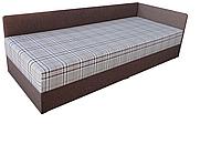 Кровать односпальная 80*200 Болеро мягкая с матрасом (мебельная ткань Шотландия) и ящиком