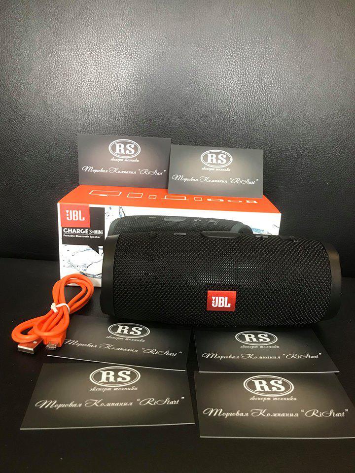 Колонка JBL Charge 3 Mini Black copy