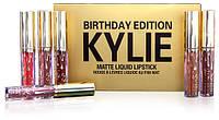 Набор губной помады Kylie Birthday Edition, Кайли Эдишн реплика (6 штук, цветов)