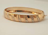 Золотой жесткий браслет. Артикул 320674, фото 1