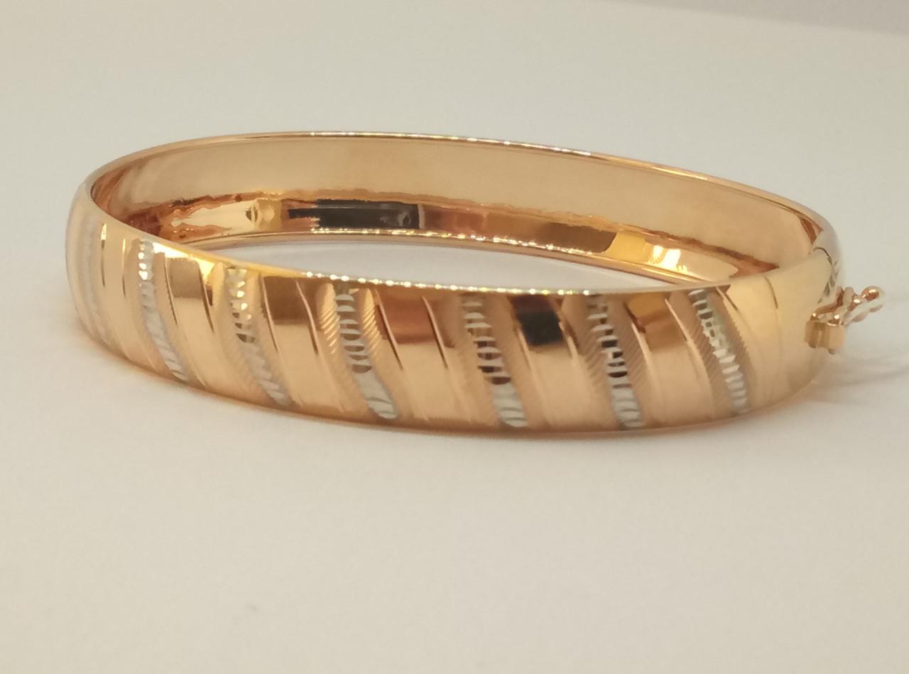 Золотой жесткий браслет. Артикул 320674