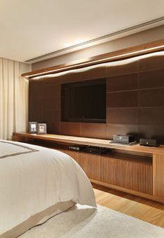 Декорирование ниши под телевизор