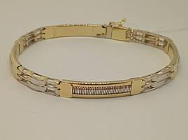 Золотий жорсткий браслет. Артикул 323408Ж 22,5