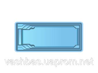 """Стационарный стекловолоконный усиленный бассейн """"Одесса"""" 8,5х3,7 глубиной 1,5м."""