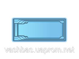 """Стаціонарний скловолоконний посилений басейн """"Одеса"""" 8,5х3,7 глибиною 1,5 м."""