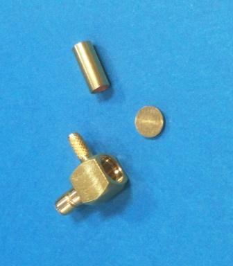 SMB Розетка на RG-174, обжим, прямой угол