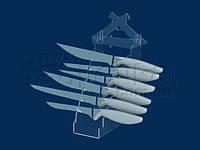 Подставка для ножей (8 штук), акрил 3мм, фото 1