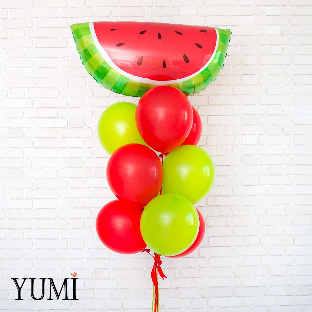 Композиция для ребенка из 10 воздушных шариков с гелием