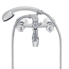 Смеситель для ванной HERZ Val с настенным креплением хром (UH07355)