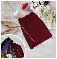 Женская мини юбка с молнией, юбка на молнии - тренд сезона. Размеры норма, разные цвета.