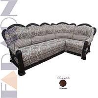"""Кутовий диван 3-1 """"Шекспір"""" розкладний, в дереві (гостьовий варіант, механізм дельфін, пружинний блок Боннель)"""