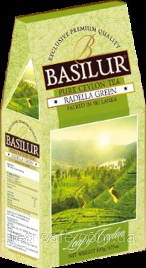 """Чай зеленый Basilur коллекция Лист Цейлона """"Раделла"""" 100 гр."""
