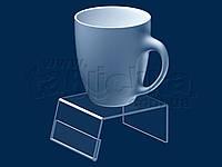 Подиум (подставка) для чашки с ценником, акрил 3мм, фото 1