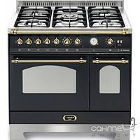 Кухонные плиты Lofra Газовая плита, 2 электрические духовки Lofra Dolcevita 90 Double Oven RNMD96MFTE/Ci BLACK/BRASS
