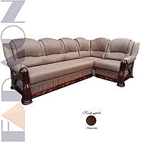 """Кутовий диван 3-1 """"Фараон"""" розкладний, в дереві (гостьовий варіант, механізм дельфін, пружинний блок Боннель)"""