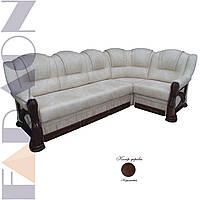 """Кутовий диван 3-1 """"Клеопатра"""" розкладний, в дереві (гостьовий варіант,механізм дельфін,пружинний блок Боннель)"""