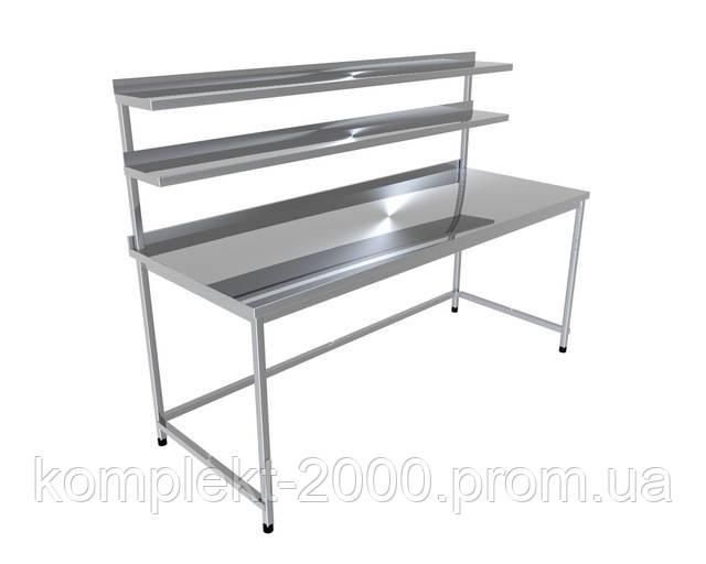 стол производственный с двумя верхними полками для кухни