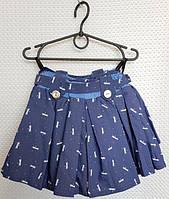 Шорты-юбка  на девочку, размер 116-134 стрекозы белые