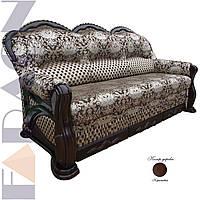 """Розкладний диван """"Шекспір"""" в дереві (гостьовий варіант, механізм дельфін, пружинний блок Боннель)"""