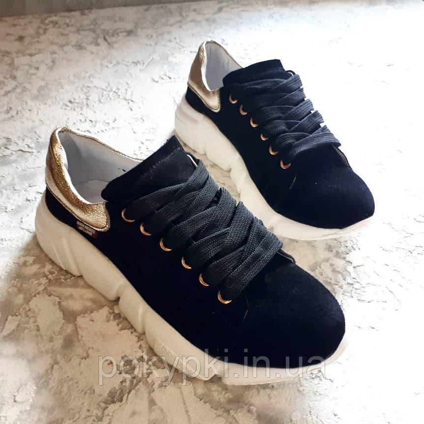 942187e0 Супер кроссовки на стильной белой подошве из натуральных материалов  кожа/замша -