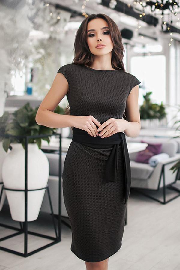(S, M) Класичне темно-сіре плаття Amori