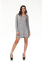 Платье трикотажное длинное. Модель П116_серый трикотаж., фото 1