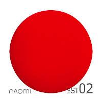 Гель-лак Naomi Soft Touch ST 02 (оранжевый, матовый, эффект велюра, неоновый), 6 мл