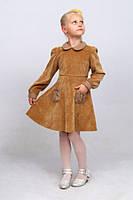 Платье из вельвета детское  М -767 рост 110