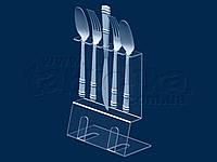 Демонстрационная подставка для столовых приборов с ценником, акрил 3 мм , фото 1