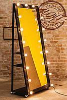 Гримерное (визажное) зеркало на опоре с лампочками LED для дома, салонов красоты, фотостудий, кафе