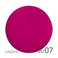 Гель-лак Naomi Soft Touch ST 07 (розовый, матовый, эффект велюра, неоновый), 6 мл