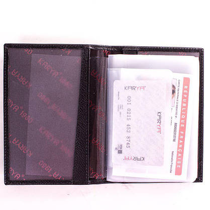 Женская кожаная обложка для водительских  прав KARYA (КАРИЯ) SHI0428-2FL, фото 3