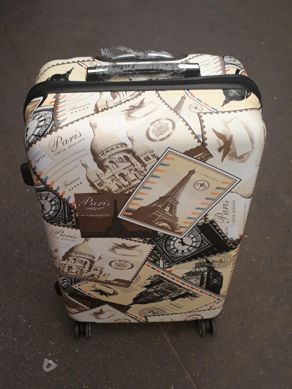Чемодан пластиковый для путешествий, средний
