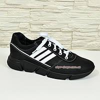 Мужские кроссовки кожаные на утолщенной подошве, фото 1