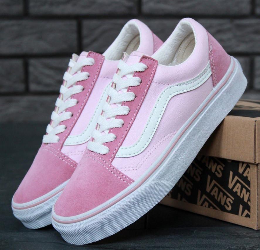 72f13dba3f91 Кеды Vans Old Skool Suede Light Pink White Женские — в Категории ...