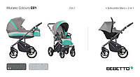 """Детская универсальная  коляска 2 в 1 """"Bebetto"""" MURANO NEW (С01), ментоловая"""